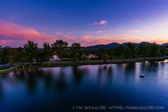 Santee Lakes Twilight View