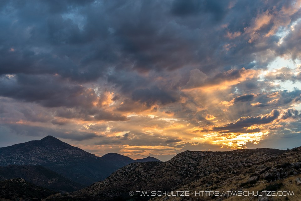 Rays Above Tecate Peak by T.M. Schultze