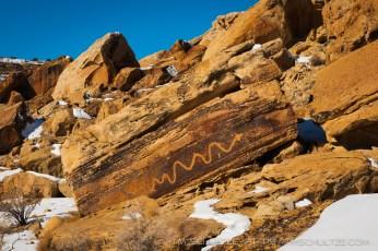 Crawling King Snake Petroglyph