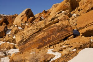 Crawling King Snake Petroglyph by T.M. Schultze