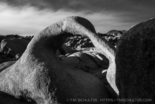 Mobius Arch West Sunset, Black and White