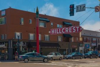 Hillcrest Neighborhood Road Sign