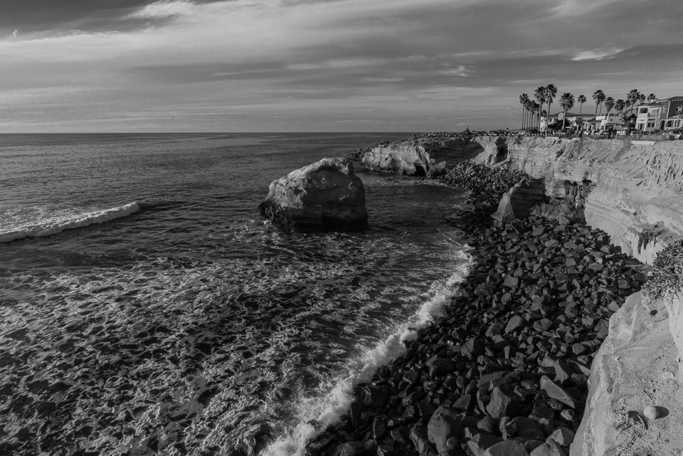Ross Rock South Overlook, Black and White, by T.M. Schultze
