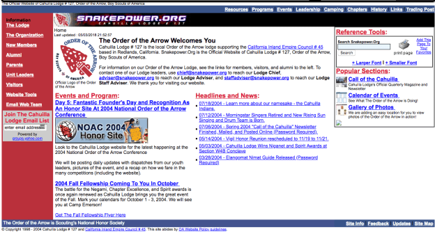 Cahuilla Lodge Website Circa 2004