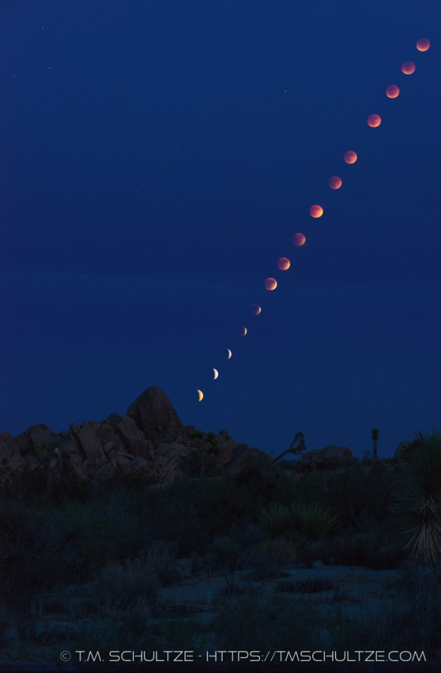 Lunar Eclipse From Joshua Tree