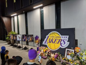 Memorial For Kobe Bryant in Los Angeles. Photo: D. Harrell