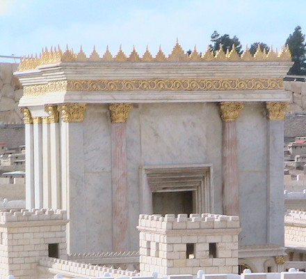 The Second Temple model at the Israel Museum