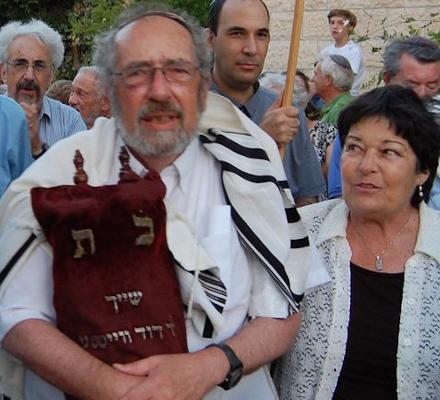 Gabi with the holocaust torah scroll