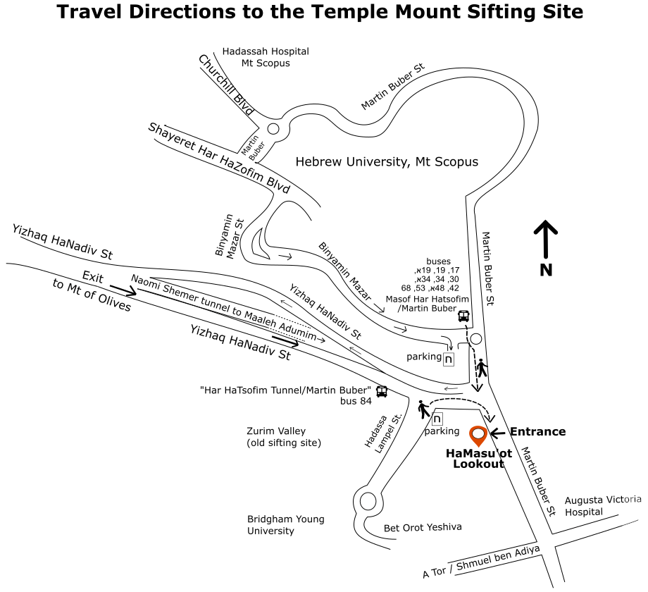Map - directions to the sifting site