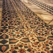 Crusader geometric floor patterns