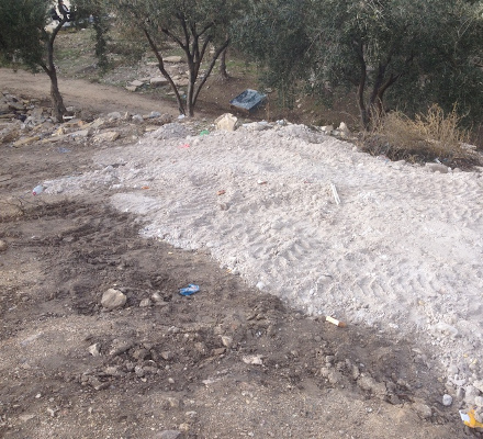 Freshly excavated soil on the Temple Mount