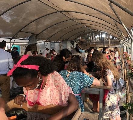 School visit at the Temple Mount Sifting Project