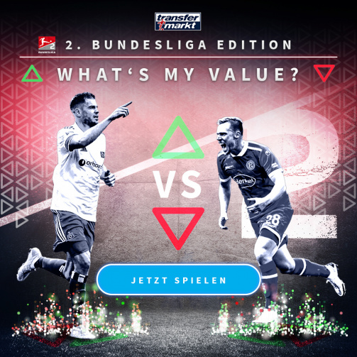 © imago images / TM - How high is your high score?  Try the Whats My Value game in the 2nd Bundesliga edition now!