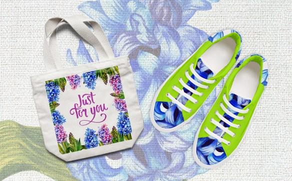 Colorful Hyacinth PNG Watercolor Bundles