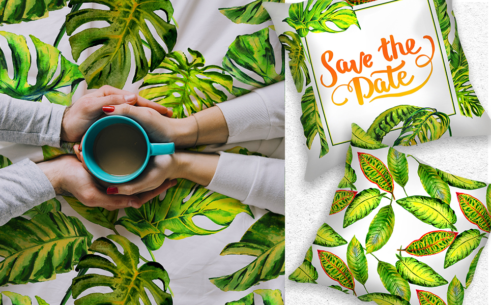 Tropics Leaves Monstera - PNG Watercolor Illustrations