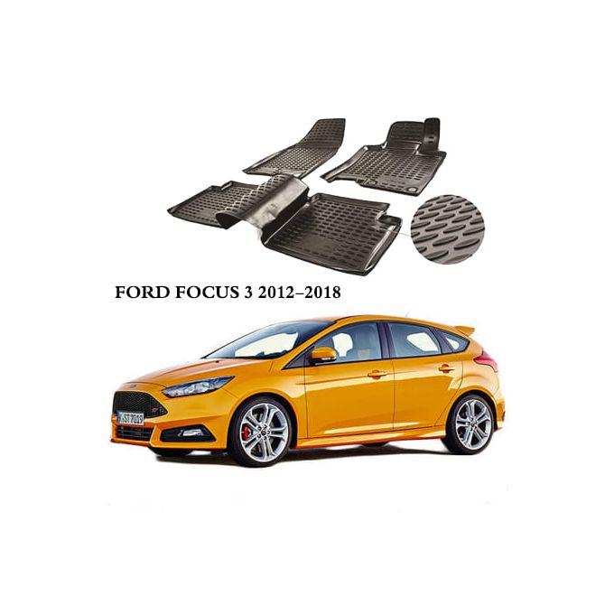 tapis de sol 3d pvc noir ford focus 3 2012 2018