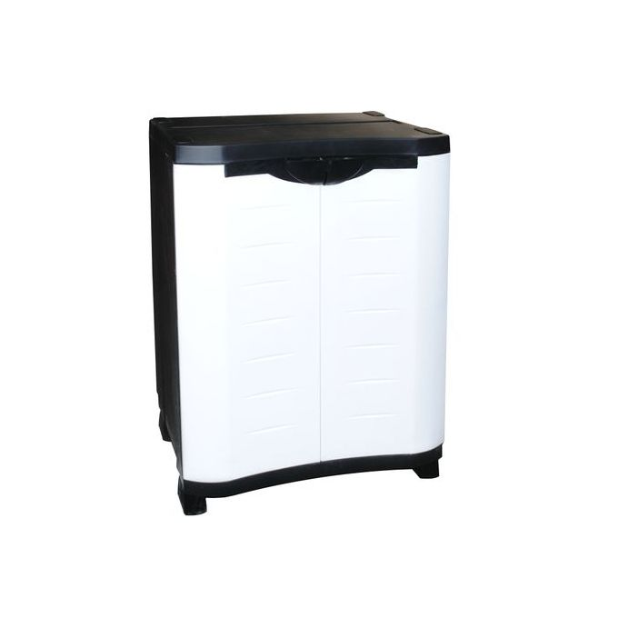 armoire texas pm en plastique avec 2 portes et 1 etagere reglables
