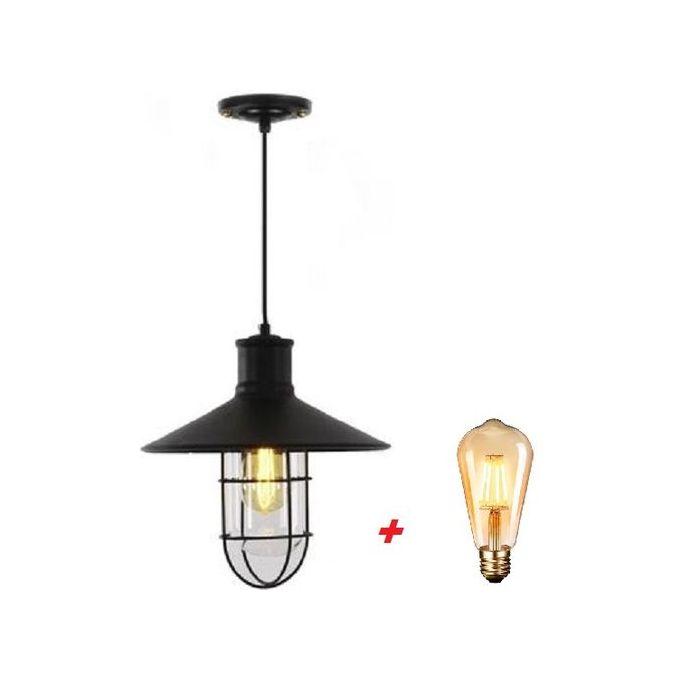 suspension industrille fer forger lampe vintage e27
