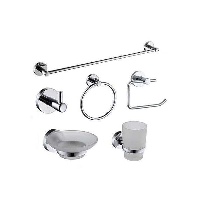 ensemble de 6 accessoires de salle de bain inox