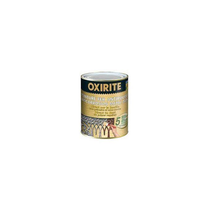 oxirite peinture fer antirouille direct sur rouille 2 en 1 750 ml argent