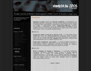endless.hu 2006 q1 screenshot