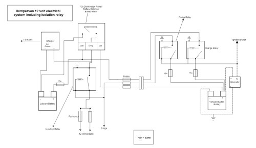 small resolution of campervan electrical diagram