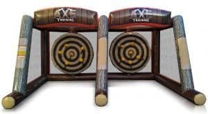 Inflatable Axe Throwing. interactive Game