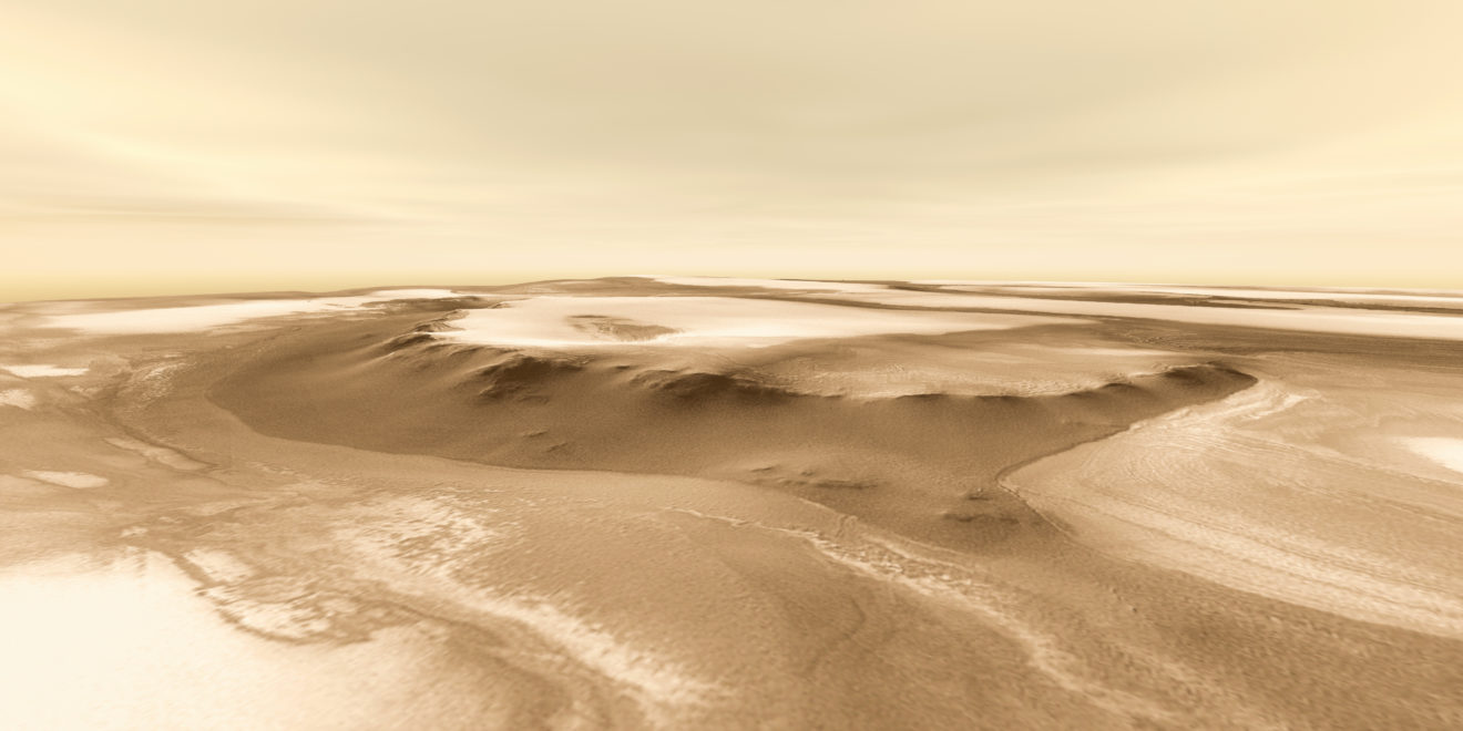 Odd sand dunes found on Mars