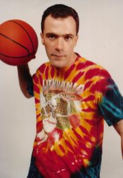 NYC street artist Greg Speirs, creator & Licensor of the iconic Slam-Dunking Skullman Lithuanian Basketball Tie Dye T-Shirts. The tie-dyed Slam Dunking Skeleton trademark acquired international fame as a household icon and legendary part of Olympics history. The brand has been marketed consistently since 1992. Copyright 1992 Greg Speirs/ Licensor. Lithuania Tie Dye® and Lithuanian Slam Dunking Skeleton® are Brands & Trademarks owned by Greg Speirs.