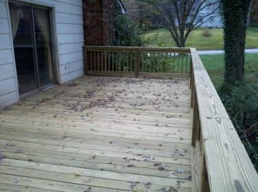 deck at back door