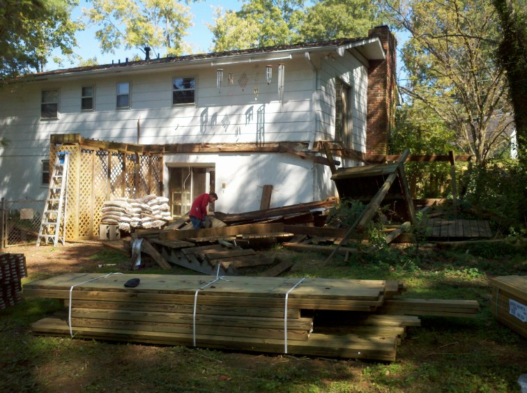 tearing down the old deck
