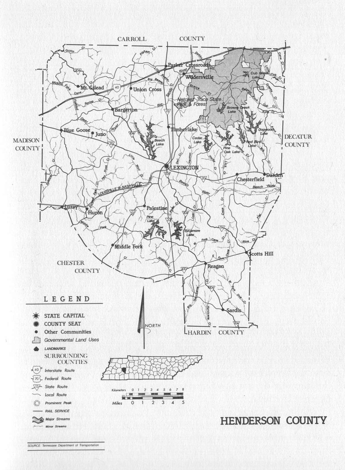 Henderson County Map