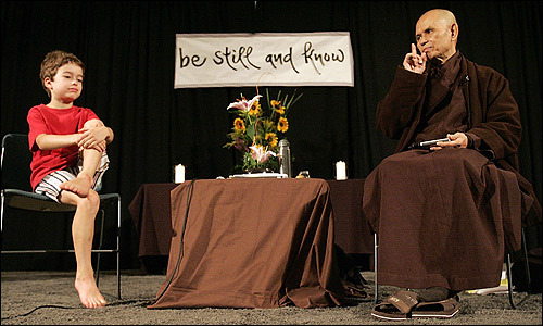 Thich Nhat Hanh answering a question from a child.