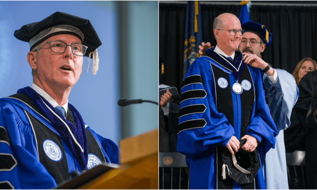 """Dean Installed as 20th UNH President, Stresses Importance of """"True Freedom"""""""
