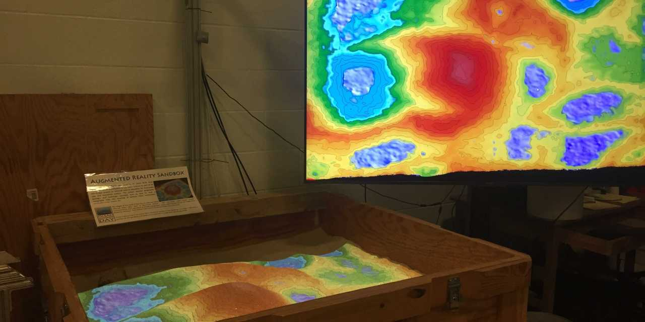 Topography sandbox makes learning three-dimensional