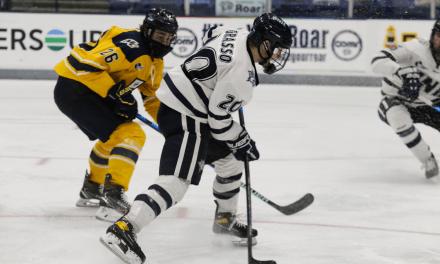Wildcats earn two points in split with Merrimack
