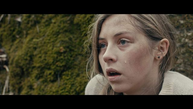 Sawyer (Hermione Corfield) plots her next move while on the run from her Rust Creek attackers.