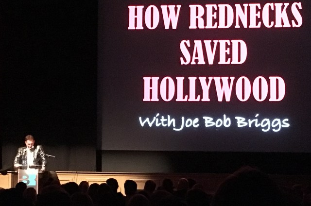 Joe Bob Briggs Performs 'How Rednecks Saved Hollywood' At Belcourt Theatre