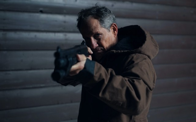 'Never Hike In The Snow' actor playing Tommy Jarvis aims a weapon
