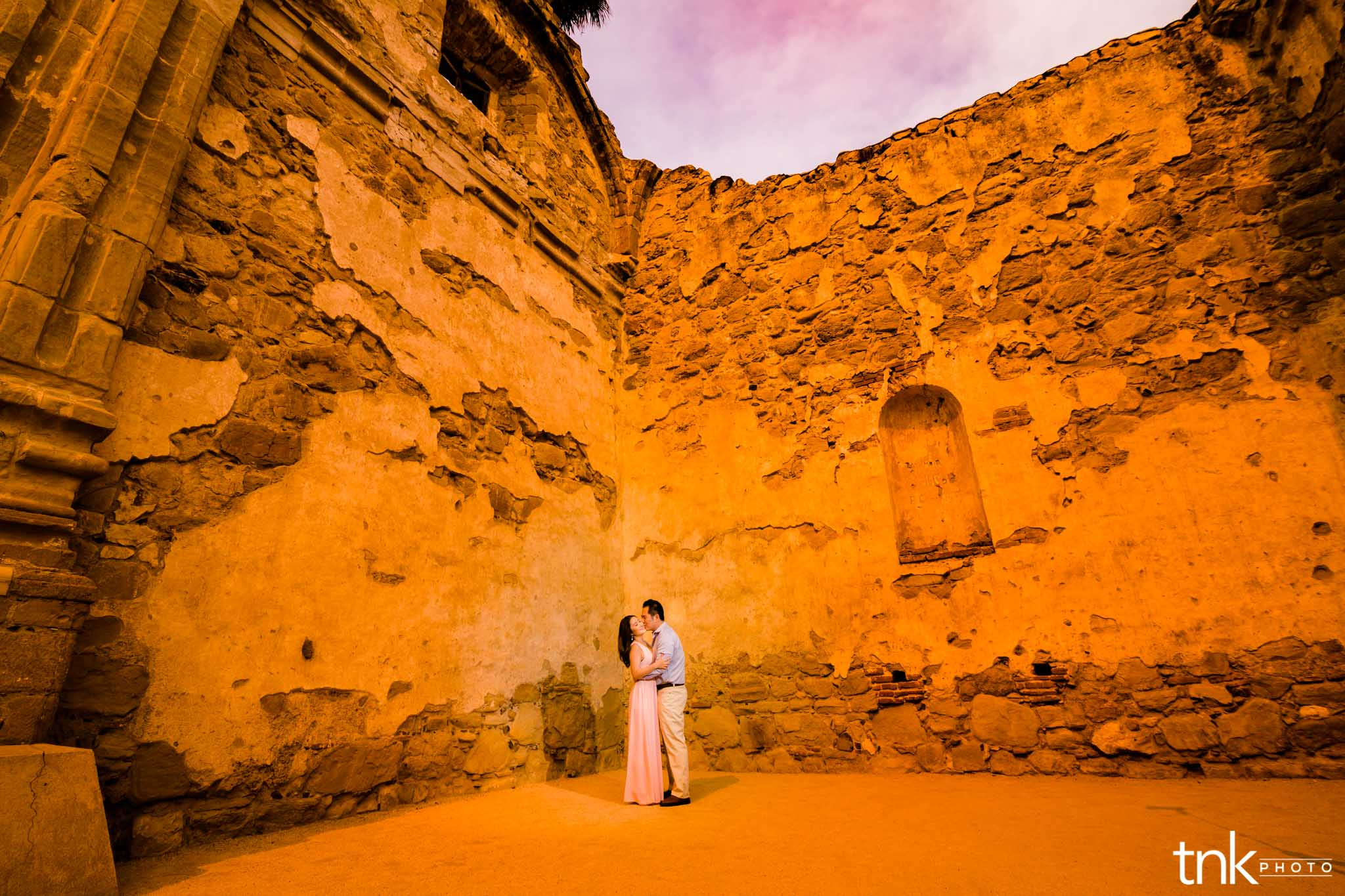 Mission San Juan Capistrano Engagement | Cindy and Jay