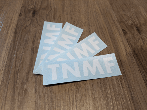 T N M F stickers multiple