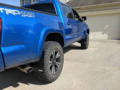 2016 Toyota Tacoma Rear Passenger Side T N M F Mudflaps