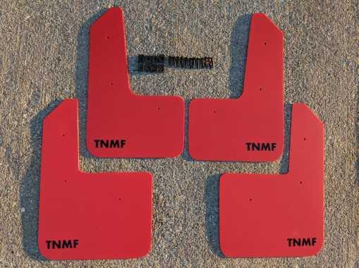 T N M F Hyundai Veloster mudflaps and hardware