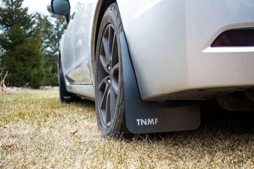 T N M F 2012 - 2016 Impreza rear driver side closeup mud flaps
