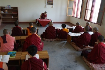 nun in class at Shugsep Nunnery Tibetan Nuns Project