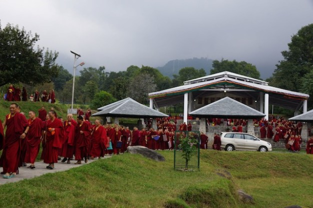 start of Tibetan Buddhist debate session Oct 2013 Tibetan Nuns Project