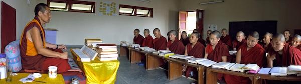 Tibetan monk teaching the nuns low res Brian Harris Tibetan Nuns Project