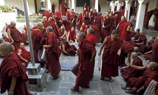 Tibetan Buddhist nuns debating 2013