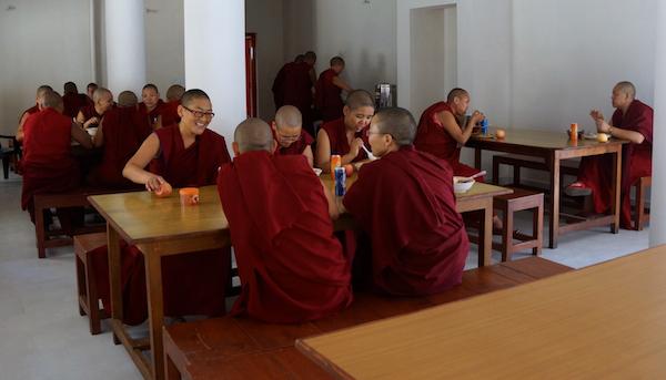 Tibetan Buddhist nuns taking Geshema exams