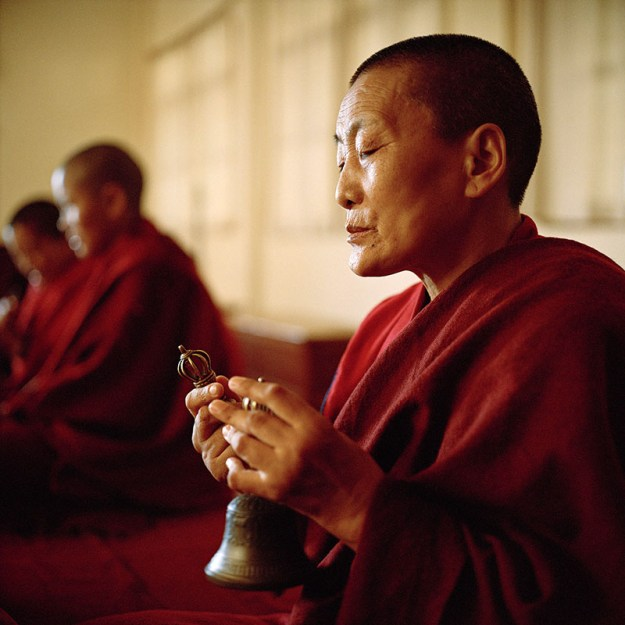 Tibetan Buddhist nun from Shugsep Nunnery by Olivier Adam